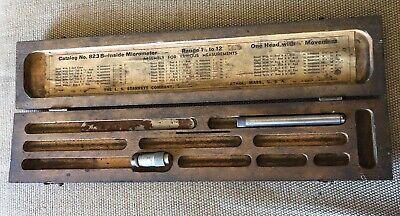 Starrett 823 Tubular Inside Micrometer W 3-12 Piece And Box.