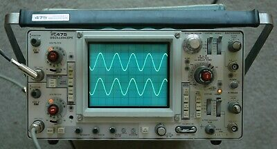 Tektronix 475 200mhz Oscilloscope Calibrated Nice Condition Sn B207639