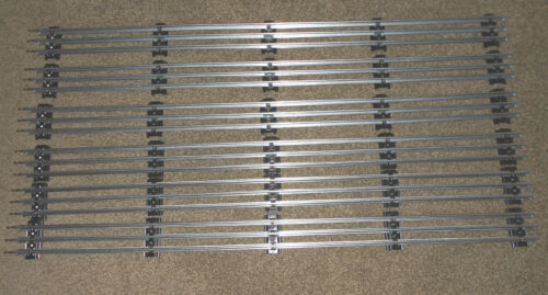 """Lot of 6 SIX Straight Track 30"""" Sections Tubular O-Gauge Track NEW"""