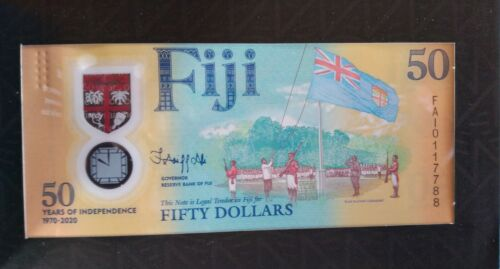 Fiji, 50 dollars polymer, 2020, commemorative note in collector