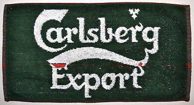 Vintage CARLSBERG EXPORT Danish Beer Bar Pub Towel Denmark Scandinavia RARE
