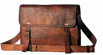 Men's Auth Real Leather Messenger Bags Laptop Briefcase Satchel Mens Bag NEW