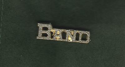 High School BAND  Letterman Jacket Pin gold tone
