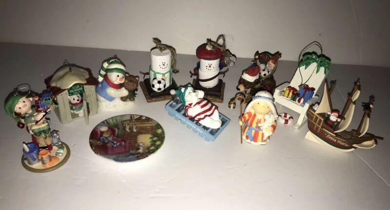 11 Hallmark, S'mores & Jim shore Mixed Ornaments Lot