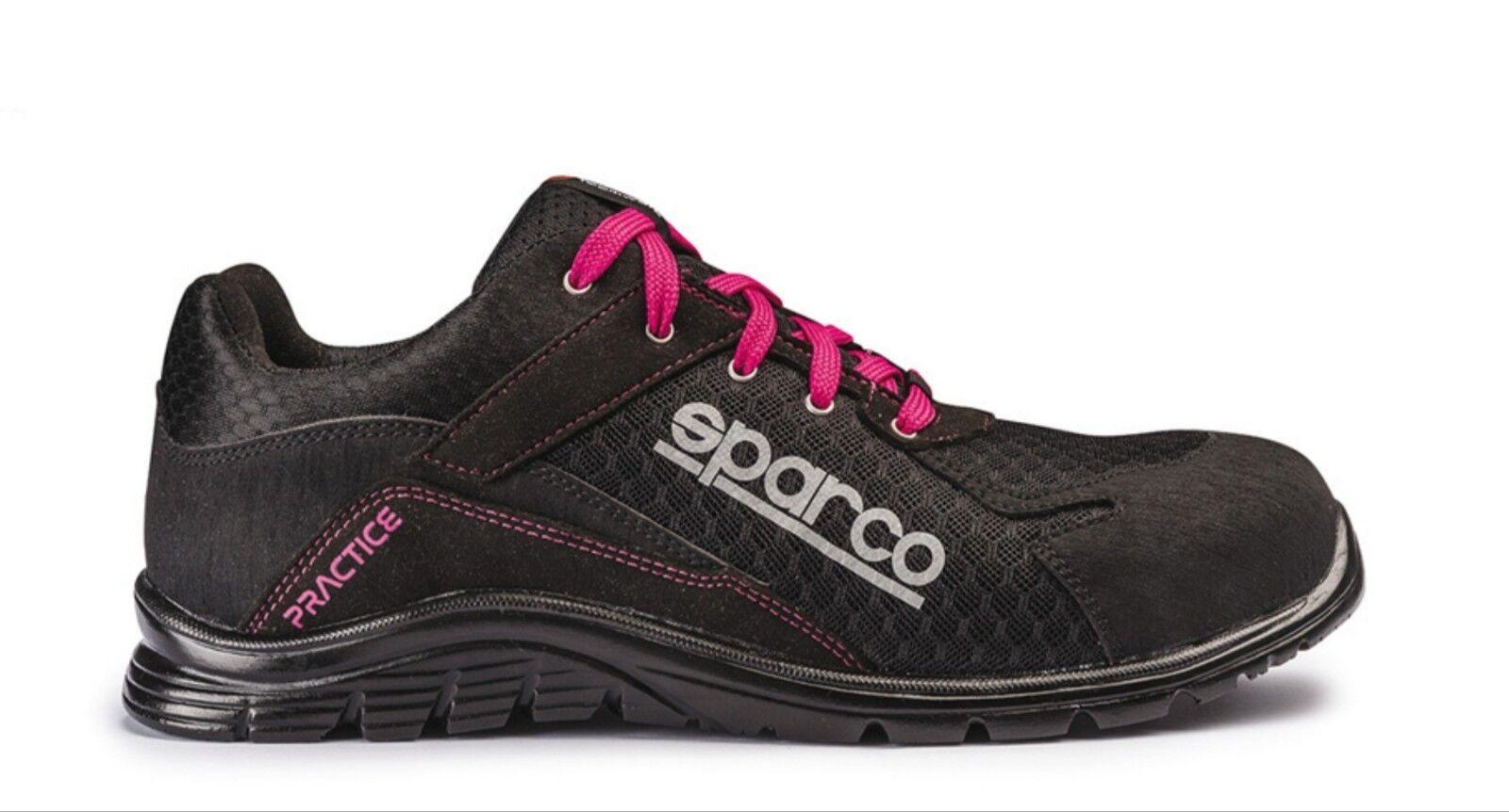 SPARCO PINK PRACTICE S1P Damen Schuh Sicherheitsschuh Arbeitsschuh Damenschuh 36