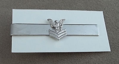 US Navy Petty Officer 1st Class New Old Stock Vintage Tie Bar