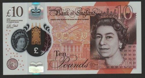 UK 10 Pounds 2016 2017 UNC Great Britain Polymer NEW