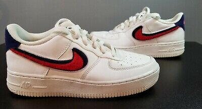 Nike Air Force 1 07 LV8 3D Chenille Swoosh Red/White/Blue Men's Size