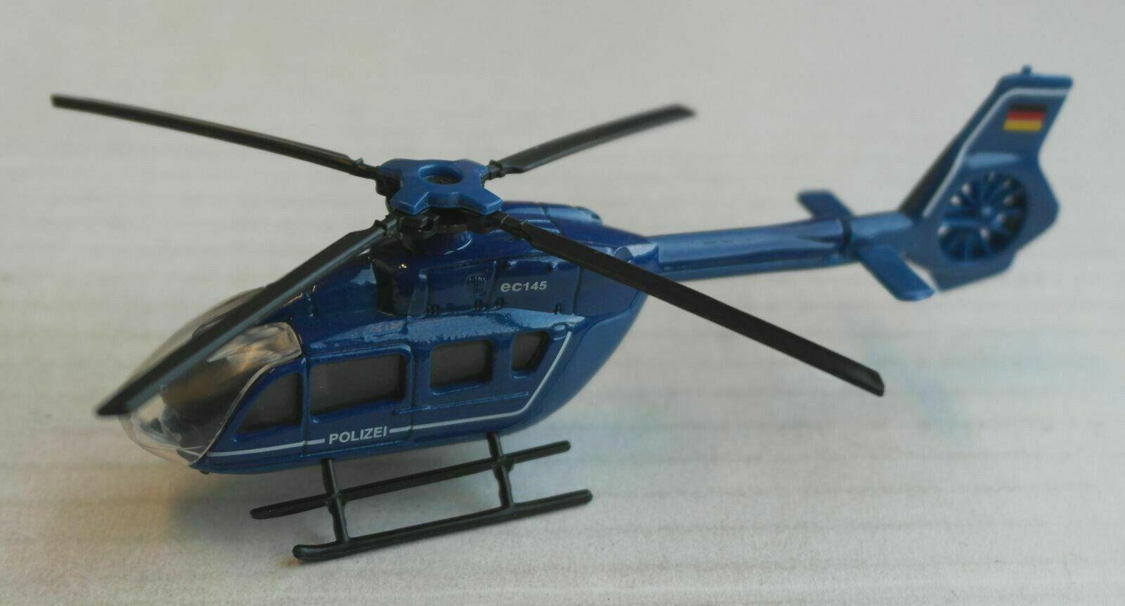 Majorette Eurocopter EC145 Hubschrauber Helicopter blau POLIZEI German Police