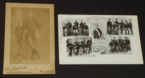 W.W.I. MILITARY /WAR MILANO /PIACENZA /ITALIA - PHOTO + POSTCARD (2) - ORIGINAL