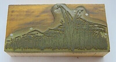 Printing Letterpress Printers Block Mountains And Tall Grass