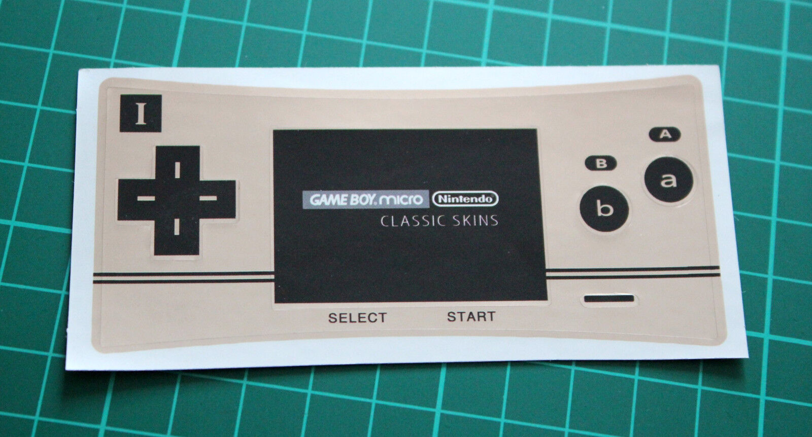 Game Boy Micro Faceplate Sticker Skin (Famicom Design)