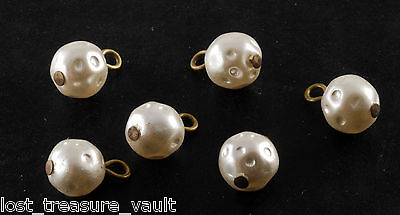 Бисер Vintage Lot of 6 Dimpled