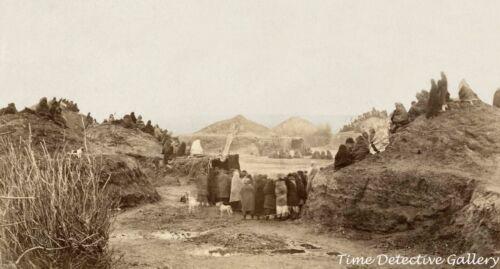 A Pawnee Indian Village, Nebraska - circa 1870 - Historic Photo Print