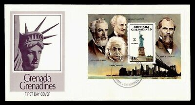 DR WHO GRENADA FDC STATUE OF LIBERTY ANIV CACHET S/S  g20488