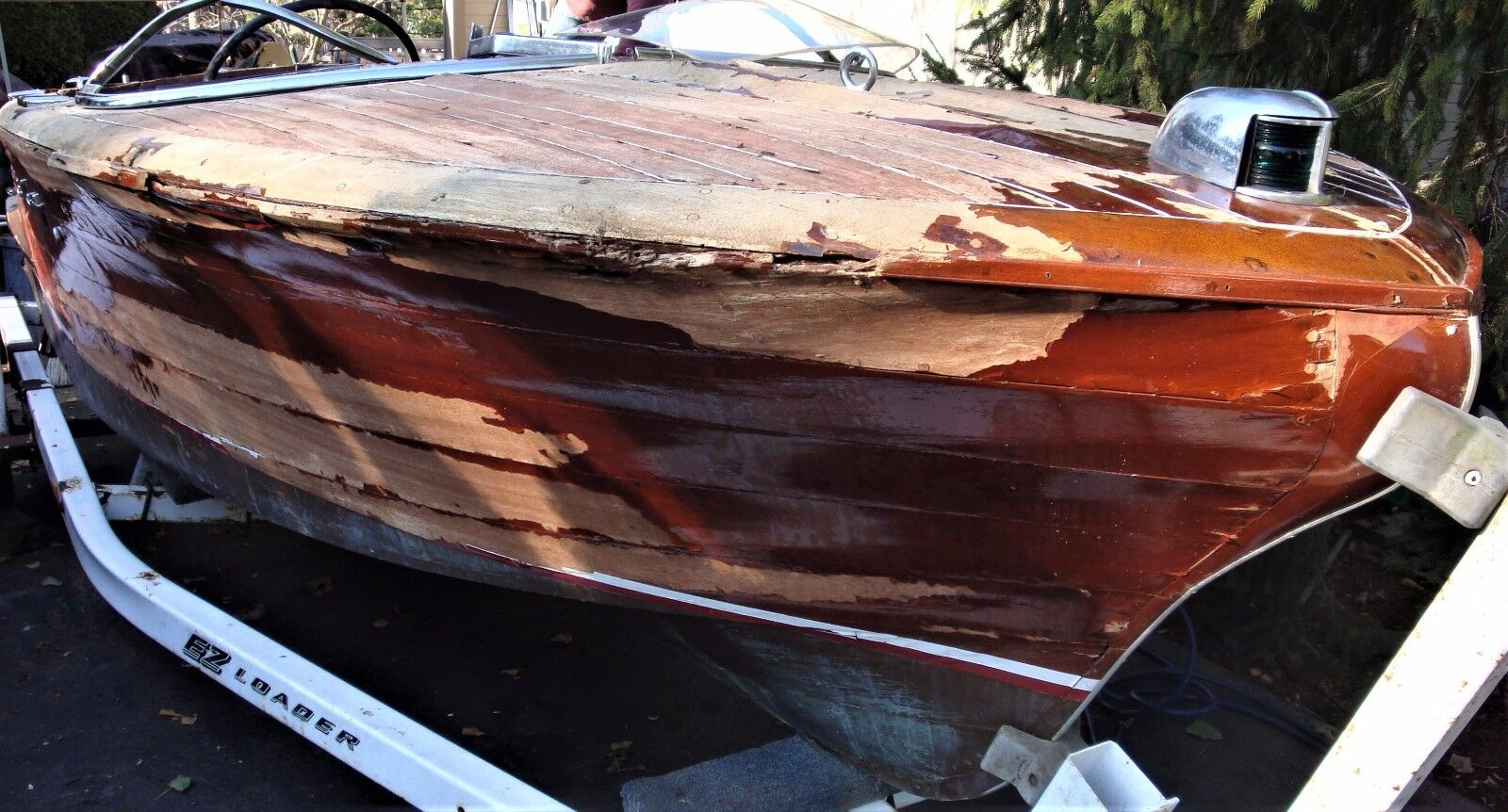 Vintage 1956 Chris Craft 19' Capri Mahogany Runabout Wood Project Speedboat