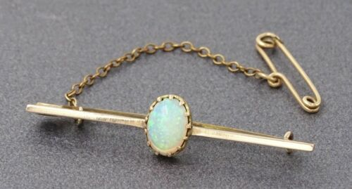 Crystal Opal Womens Brooch VINTAGE HANDMADE 14ct Rose Gold