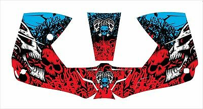 0700000800 Esab Sentinel A50 Welding Helmet Wrap Decal Sticker Red Blue Skull