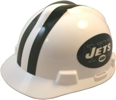 New York Jets Msa Nfl Hard Hat With One Touch Suspension