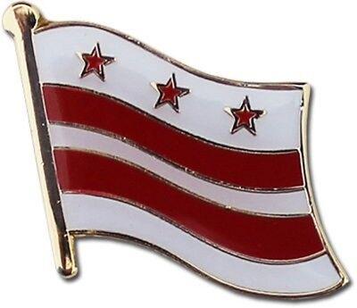 Wholesale Pack of 50 Washington D.C. Columbia Flag Bike Hat Cap lapel Pin