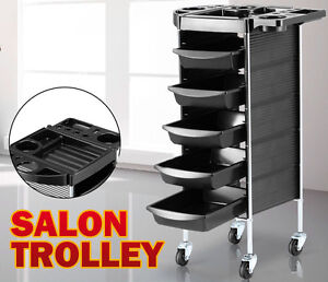 6 Tiers Hairdresser Salon Spa Multifunction Hair Trolley Rolling Storage Cart