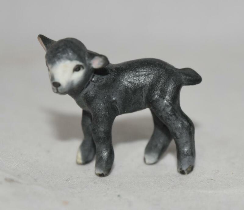 Hagen Renaker Matte Black Lamb Figurine