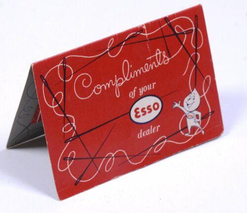 Vintage ESSO Dealer 29 Nickel Plated Gold Eye Sewing Needles & Threader COMPLETE