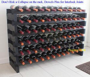 72 Bottles Wine Rack Stackable Storage 6 Tier Display Shelves Stand WN85-BLACK