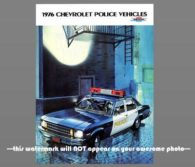 1976 Chevy Police Car PHOTO Vintage Ad Policeman Officer Vehicle Chevrolet