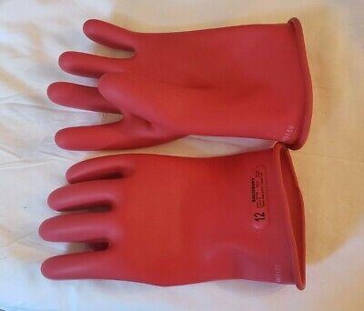 Salisbury D120 12 Type 1 Gloves 1000v Ac Class 0 - Red Open - Box New