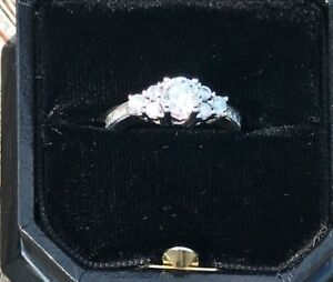 14kt white gold cluster engagement ring $800.00 obo
