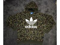 Mens Adidas camo hoody size medium like new