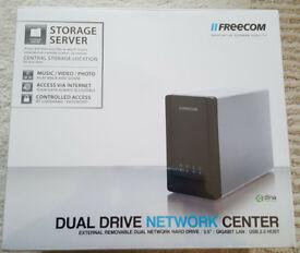 Freecom DualDrive Network Center NAS (No HD disks)