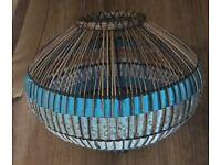 Bamboo and silk pendant