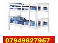 WHITE WOODEN Bunk Bed CONVERTED IN TO 2 SINGLES