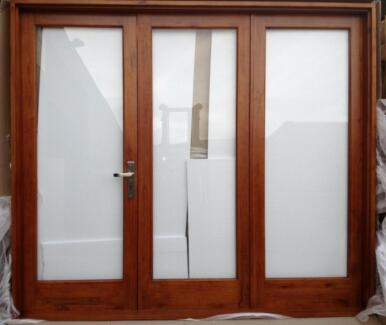 BI FOLD FRENCH DOORS,SOLID CEDAR, 3 PANEL, 2410X2100H, NEW Vineyard Hawkesbury Area Preview
