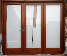 BIFOLD FRENCH DOORS,SOLID CEDAR, 3 PANEL, 2410X2100H, NEW Vineyard Hawkesbury Area Preview