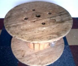 Wooden Cable Drum, Table