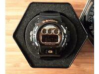 G-Shock Mens Black & Gold watch NEW
