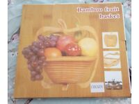 Brand new in box bamboo fruit/egg basket