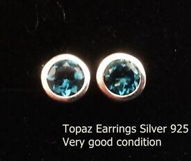 Earrings Silver Topaz