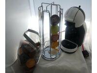 DeLonghi Nescafé Dolce Gusto Coffee Machine EDG305.WB Revolving Pod Holder & 39 Pods