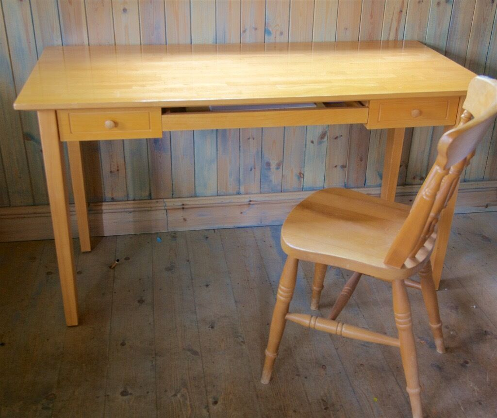 M S Light Oak Desk
