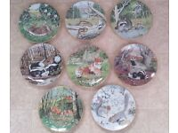 Ideal Xmas Gift For Grandparents / Collectors - 8 Collectable The Woodland Year Wildlife Plates.