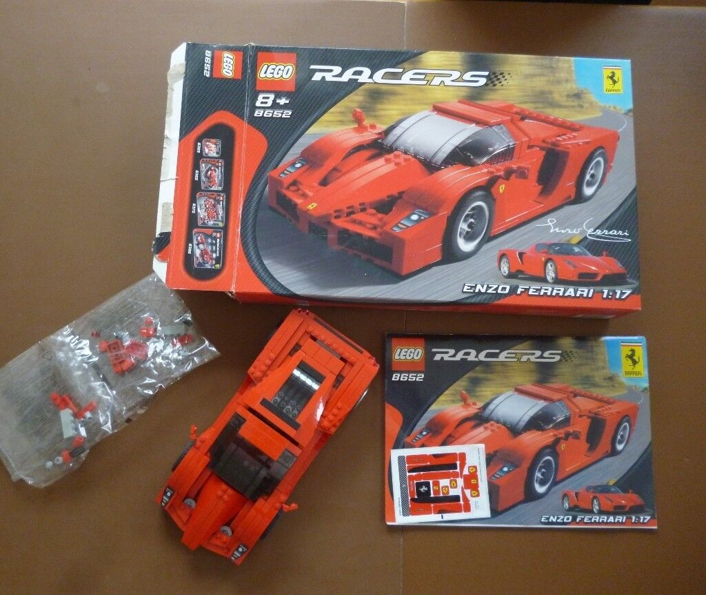 Lego Enzo Ferrari 117 Model 8652 Complete With Box And Instructions