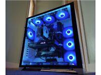 High End Gaming PC, Intel i7, 32GB RAM, LIAN LI CASE, 1080Ti, 1TB SSD, 2TB HDD