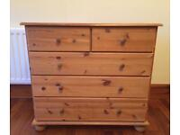Solid Pine Chest of Drawers, Free Local Delivery