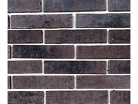 Brick tiles DF697 grey/black/white flamed