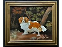 After George Stubbs (1724-1806) Fine Original King Charles Spaniel Oil Painting