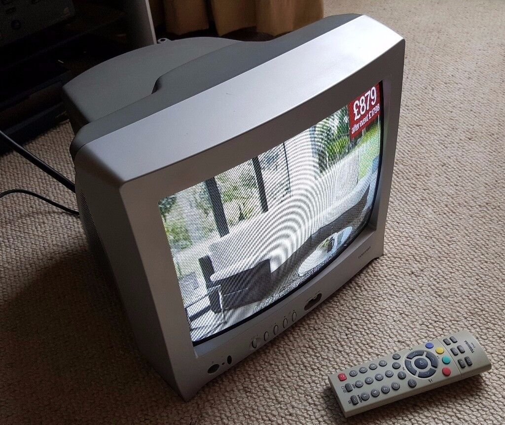 Toshiba 14 Inch Portable Crt Tv With Remote  Nearly New
